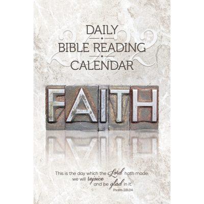 Single Copy Faith 2022 Daily Bible Reading Calendar